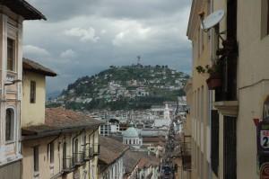 Blick auf die Altstadt von Quito